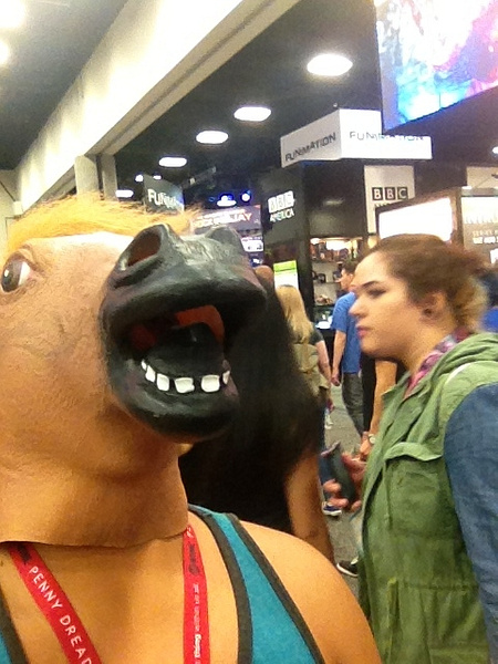 Horse Selfie at Comic Con by RyanAvelino