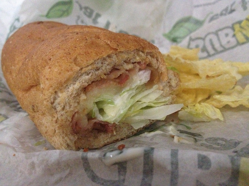 BLT sub with Chips