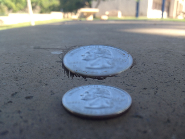 Cloned Quarter on Table by RyanAvelino