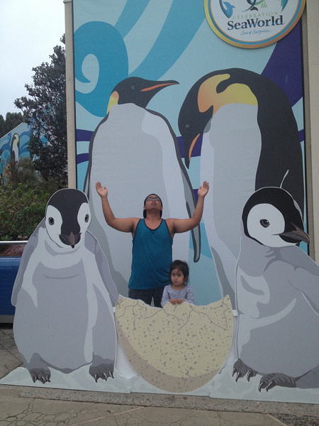 Penguins with Cousin by RyanAvelino