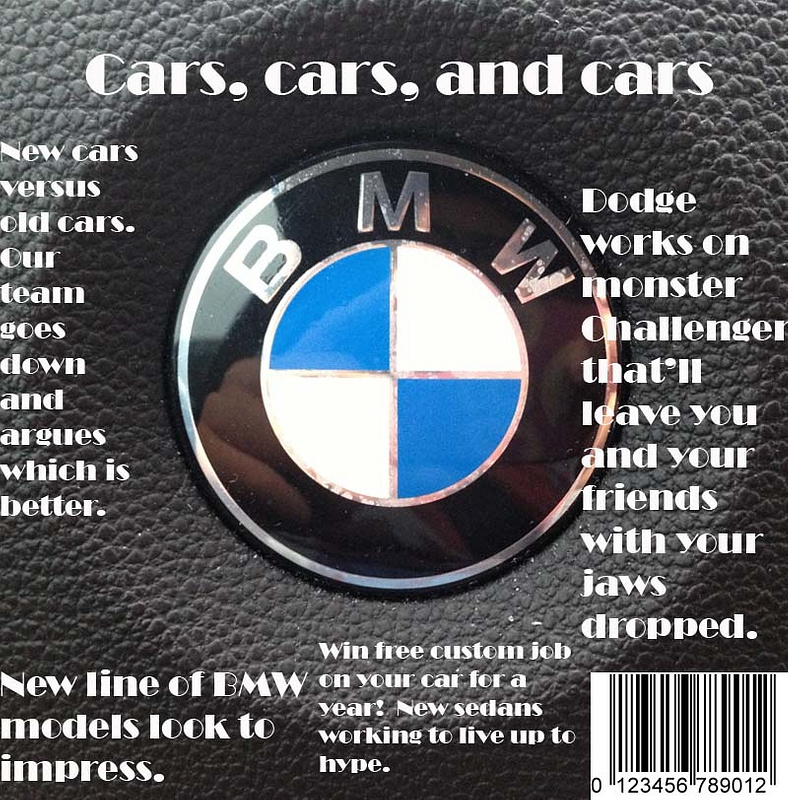 Cars, cars, and cars magazine