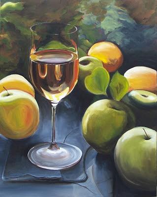 Wine Glass Painting by RyanAvelino