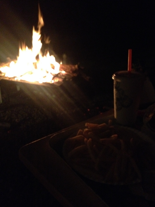 Bondfire with my best bud