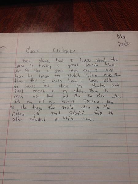 Class critique by AlexTovalin