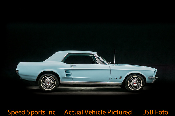 1967 Ford Mustang hardtop blue by Jsbfoto