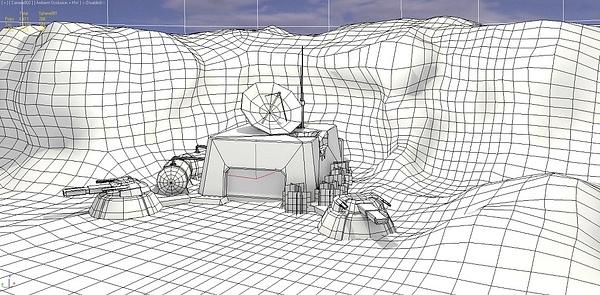 sci-fi base by Vilmos Kóródi