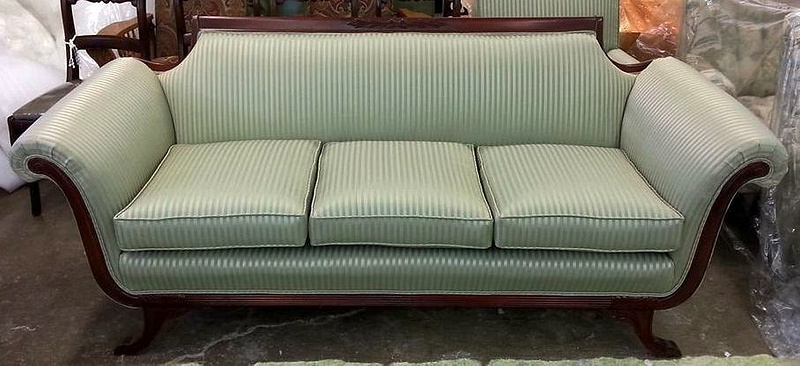 Lincoln Reupholstered sofa after