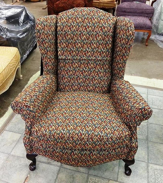 Lincoln Interiors reupholstered chair by Lincoln Interiors
