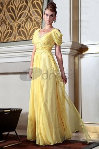 Dresses-in-Stock-A-line-V-neck-long-yellow-evening-dresses-with-cap-sleeveless-bmz_cache-a-a100ffd6b171b5acfc3e33e6cd809a63.imag by RobeMode
