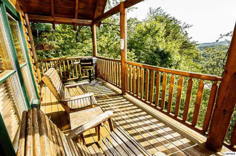 14 Back Deck with Rockers & Grill