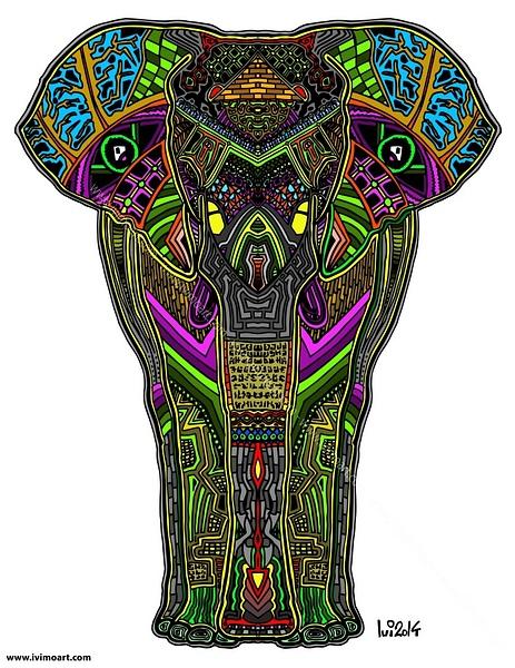 Pineal Elephant by IviMoArt