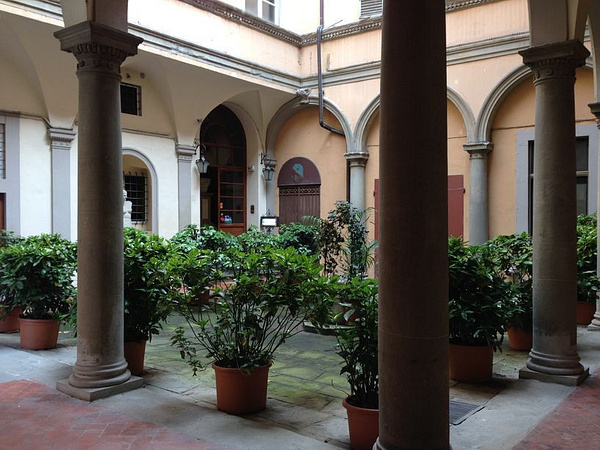 An interesting hotel courtyard by BradAndDebbie
