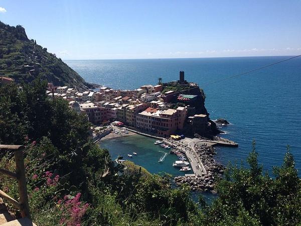 A view of Vernazza by BradAndDebbie