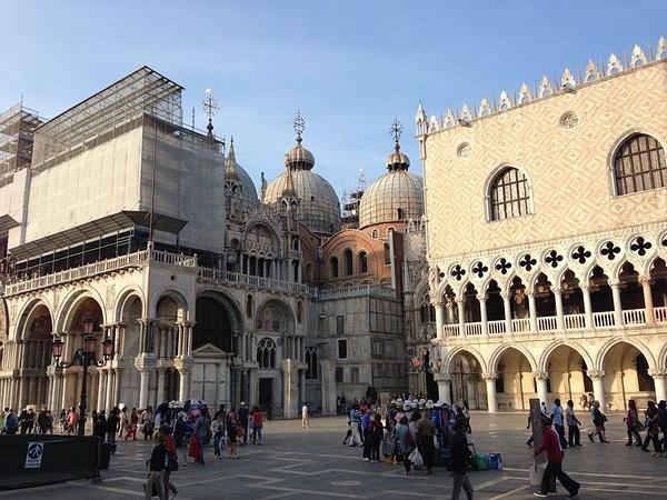 Saint Mark's undergoing restoration by BradAndDebbie