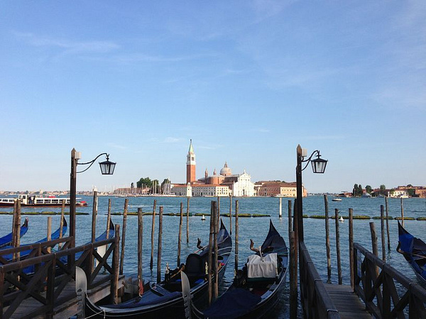 San Giorggio Maggiore across the mouth of the Grand Canal from St. Mark's Plaza by BradAndDebbie