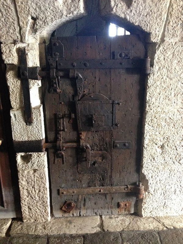 Door to prisoner's cell in Doge's Palace