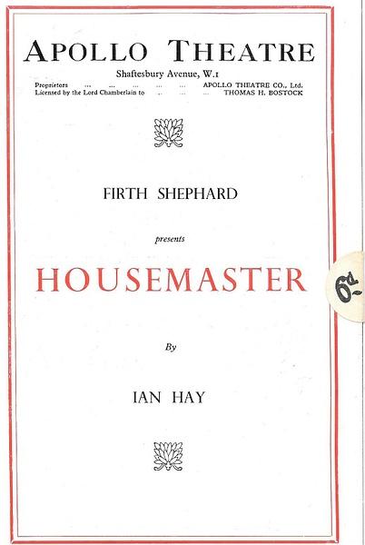 housemaster by Stuart Alexander Hamilton