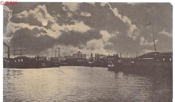 Leith Harbour pre 1911 by Stuart Alexander Hamilton