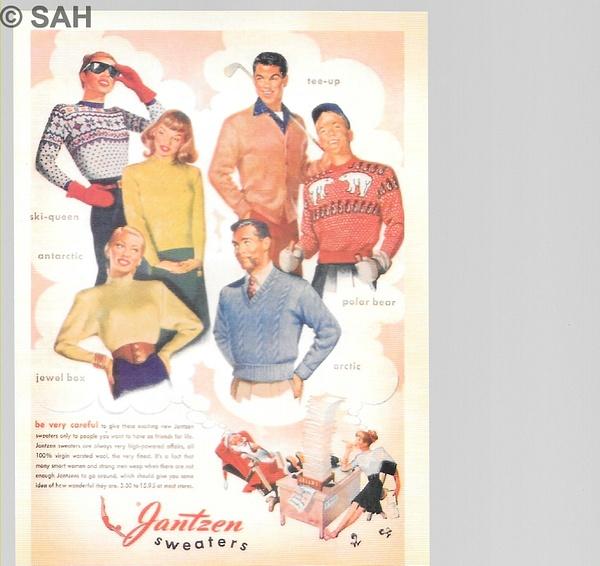 Retro advertising card by Stuart Alexander Hamilton