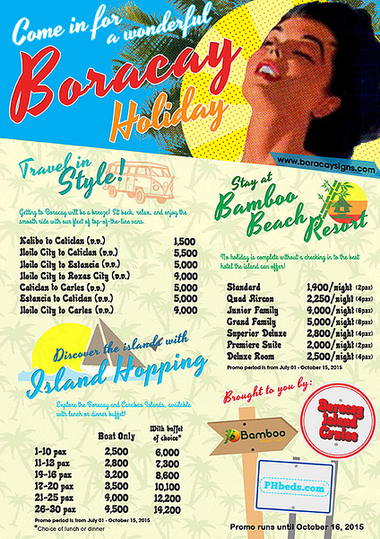 BORACAY-HOLIDAY Promos by Marie11