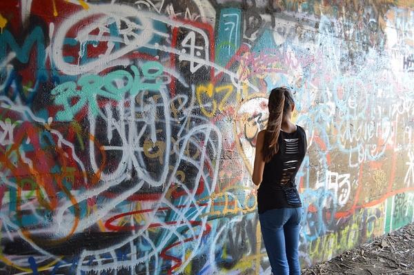 looking at the wall by BriannaIbanezAdvanced