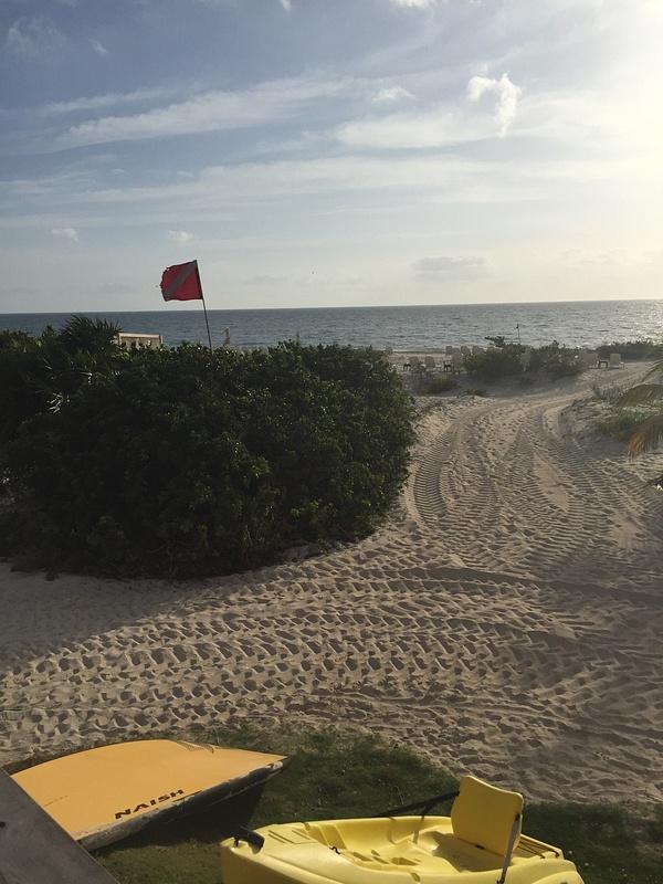 Beach from activity hut