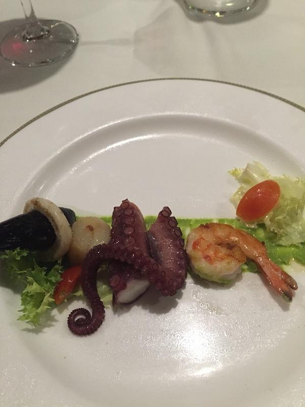 Seafood starter portofino