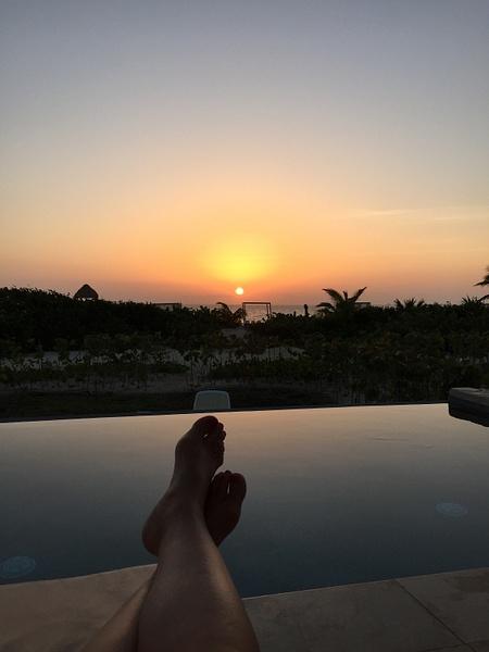 Sunrise from balcony 1005 by JanieBac