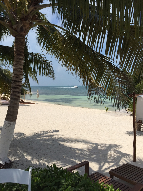 Beach at stop off Isla
