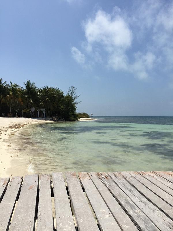 Beach at stop off Isla.