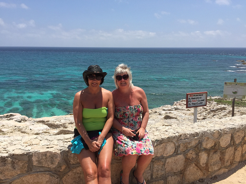 me and Tracey Isla mujeres