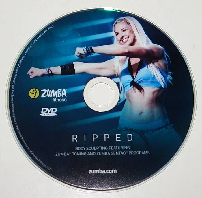 zumba fitness ripped replacement dvd 1 disc only exercise workout ebay. Black Bedroom Furniture Sets. Home Design Ideas