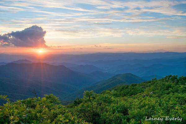 craggy pinnacle sunset