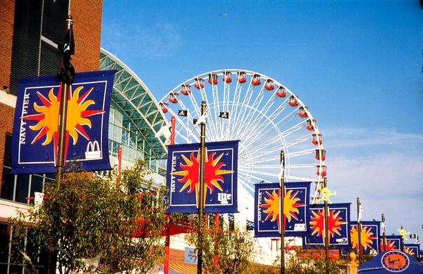 Navy Pier Ferris Wheel 10.97 a by James Bickler