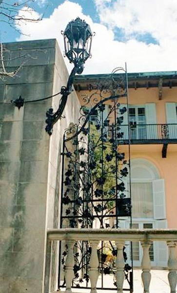 Cuneo Estate Metal Gate and Lantern 8.02 (2) by James Bickler