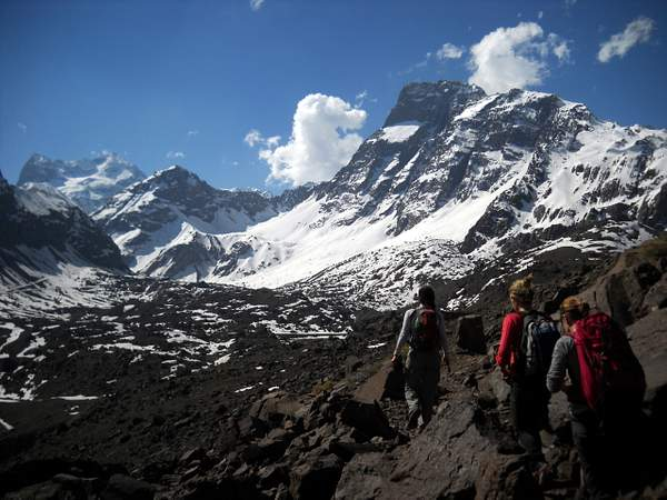 Hiking in the Chilean Andes
