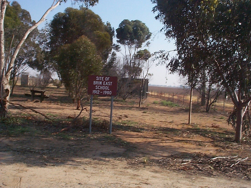 old brim east school site with sign