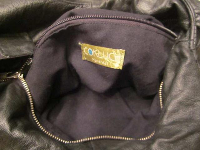 S-04 Sac en cuir designer québécois COKLUCH 60$