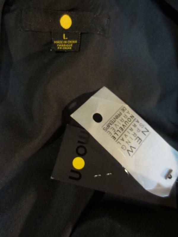 R-35 Robe noire neuve (taille L) 25$