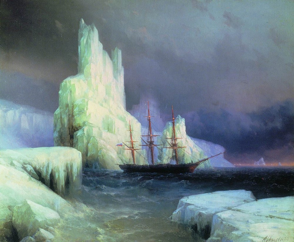 icebergs-in-the-atlantic-1870 by Regina3