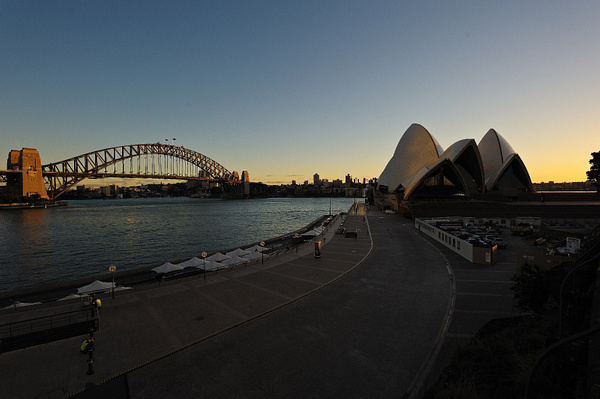 Opera House at dawn - nikon 14 - 24mm f2.8 by ben morgan