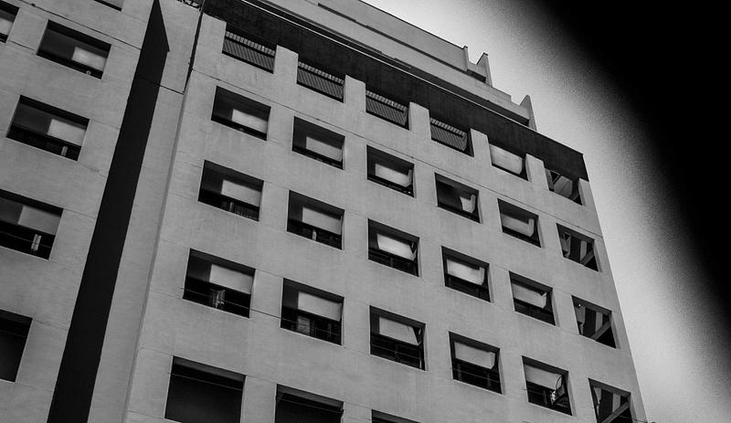 Building façade partial view