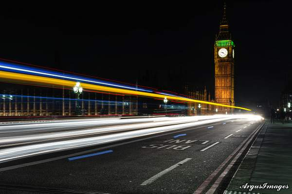 Westminster Bridge Light Trails