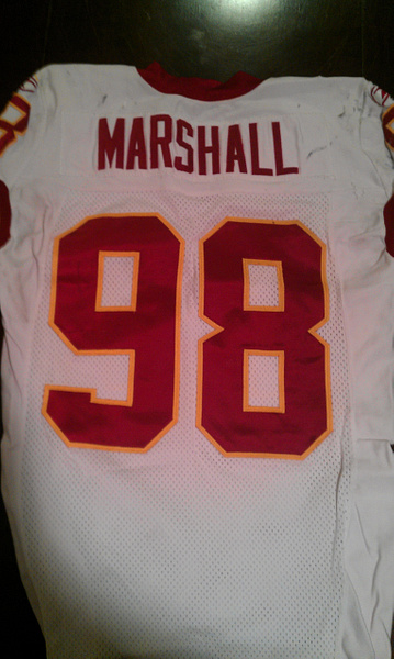 Lemar Marshall Washington Redskins by JasonPerlman