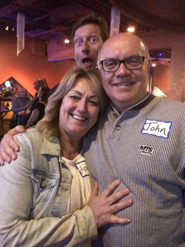 Lori, John and Photo Bomber