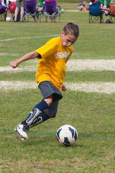 Ben Plays Soccer by FletcherImages
