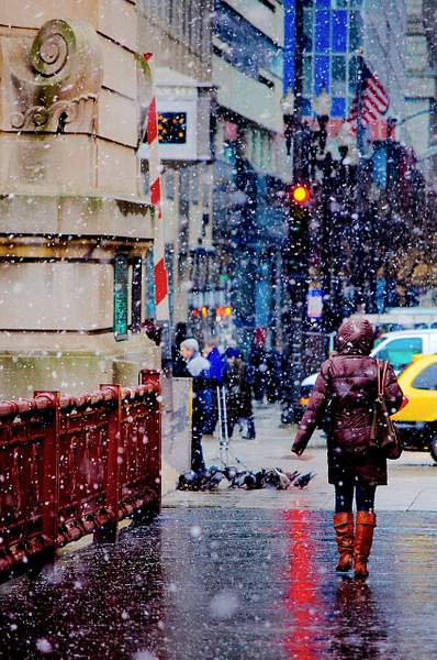 Chicago Snowstorm - LaSalle Street