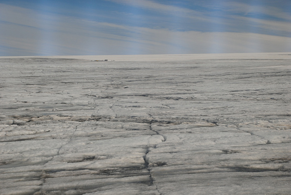 on the glacier by Maria Dzeshchanka