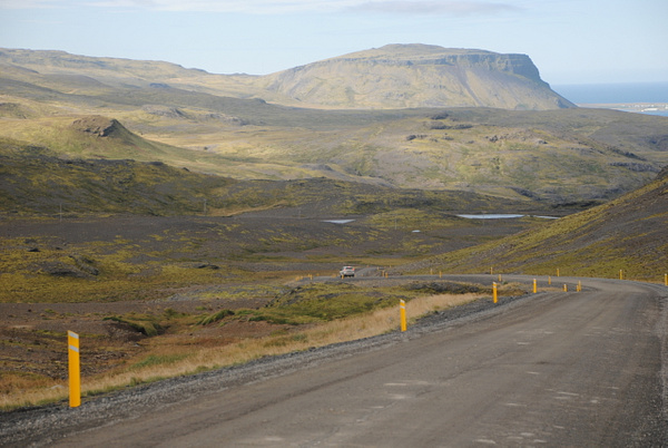 Road to the fjord by Maria Dzeshchanka