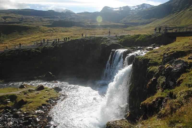 Sunny waterfall